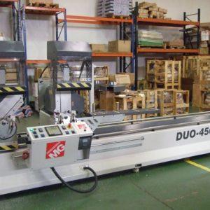 TRONZADORA DE DOBLE CABEZAL PARA CORTE DE ALUMINIO / PVC DUO-450