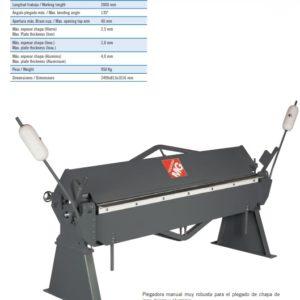 PLEGADORA MANUAL -MG- V612